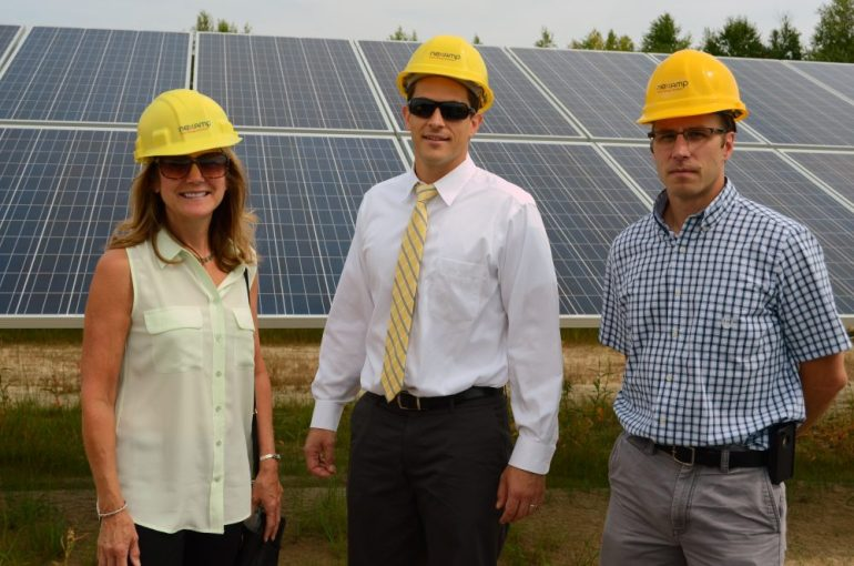 (l to r) Town Manager Jodi Ross, Assistant Town Manager John Mangiaratti, and Assistant Town Engineer Jeremy Downs.
