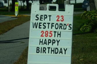 Happy birthday, Westford!