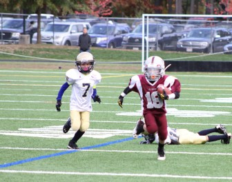 Westford's Tommy Galvin with the ball (credit: Mike Saunders)