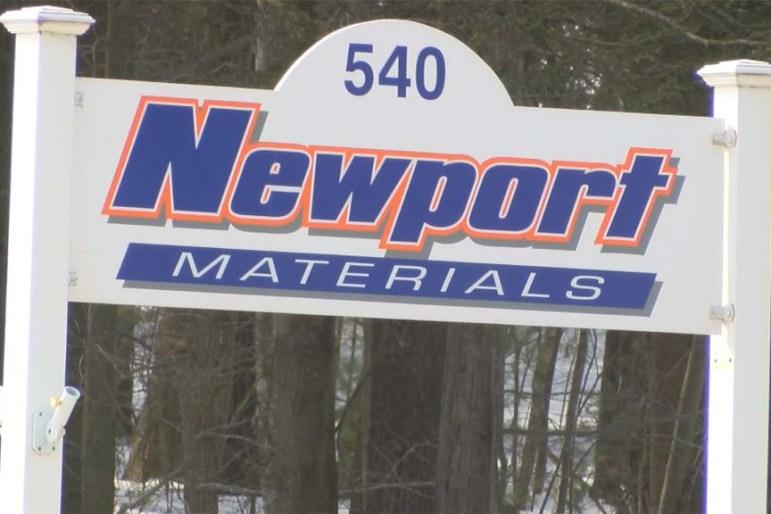 Newport Materials sign at 540 Groton Road