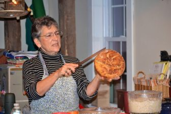 Denali Delmar explains the art of breadmaking during a class at Rumphius
