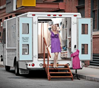 Emily Benson on the Fashion Truck (courtesy - Emily Benson)