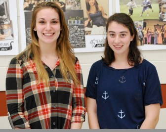 Westford students at Nashoba Tech who qualified for the John & Abigail Adams Scholarship include Téa Dellanno, left, and Veronica Pecora. (courtesy Dan Phelps)