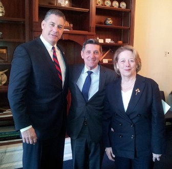 Middlesex Sheriff Peter J. Koutoujian (left) this week was in Washington, D.C. for meetings including a briefing with Congresswoman Niki Tsongas (right) and ONDCP Director Michael Botticelli. (courtesy - Kevin Maccioli)