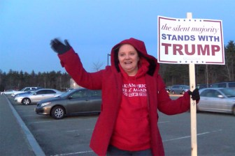 Carla Murray at the Stony Brook School around 5 p.m. on Super Tuesday.