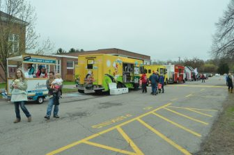 A relaxed atmosphere late in the day at the Food Truck Festival.