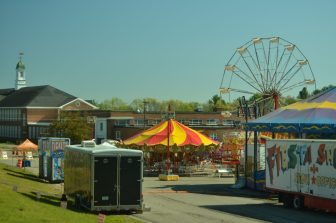 A view of the festival with the Abbot School in the background