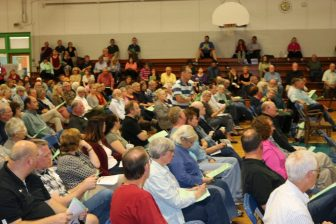 There were 316 voters deciding 12 articles and two resolutions at Westford's special Town Meeting, Oct. 17. PHOTO BY JOYCE PELLINO CRANE