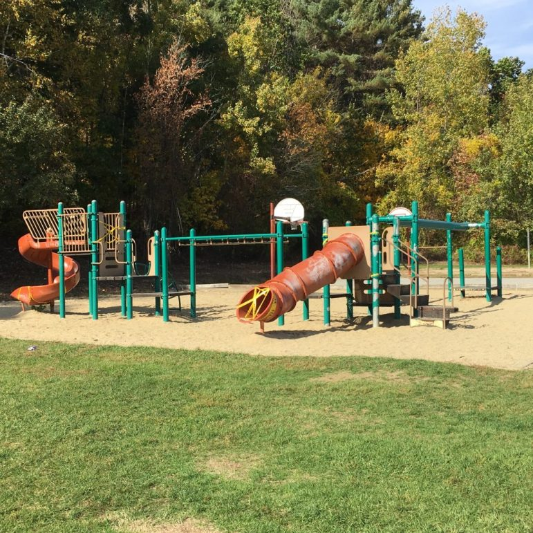 The playground at the Day School has been removed for safety reasons. COURTESY PHOTO