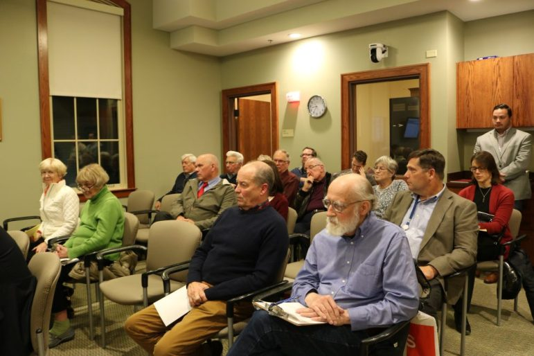 Attendees at the Board of Selectmen meeting on Nov. 14. PHOTO BY JOYCE PELLINO CRANE