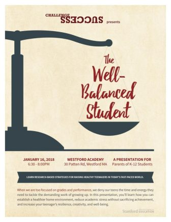 The 'Well-Balanced Student,' Jan. 16. COURTESY IMAGE