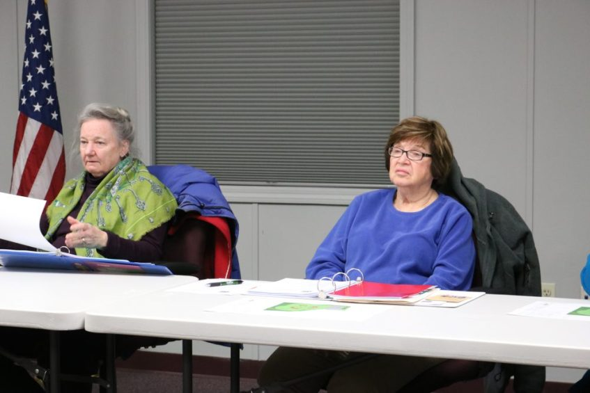 Community Preservation Committee Chairman Toody Healy and member Marilyn Frank. PHOTO BY JOYCE PELLINO CRANE