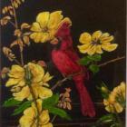Cardinal, by Helen Moriarty. COURTESY PHOTO
