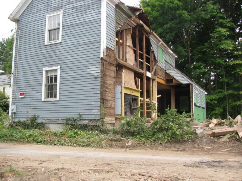 Termites and water damaged the back section of the house requiring demolition. COURTESY PHOTO
