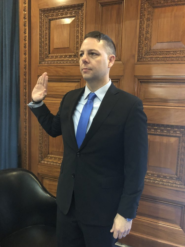 Arciero takes the oath of office in the House Chamber.COURTESY PHOTO