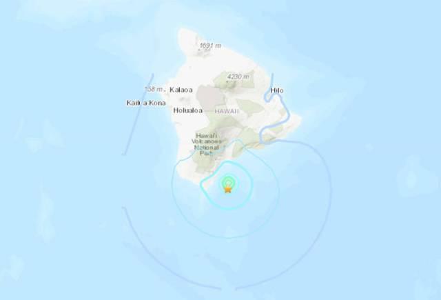 M-4.7 earthquake strikes off Ka'u