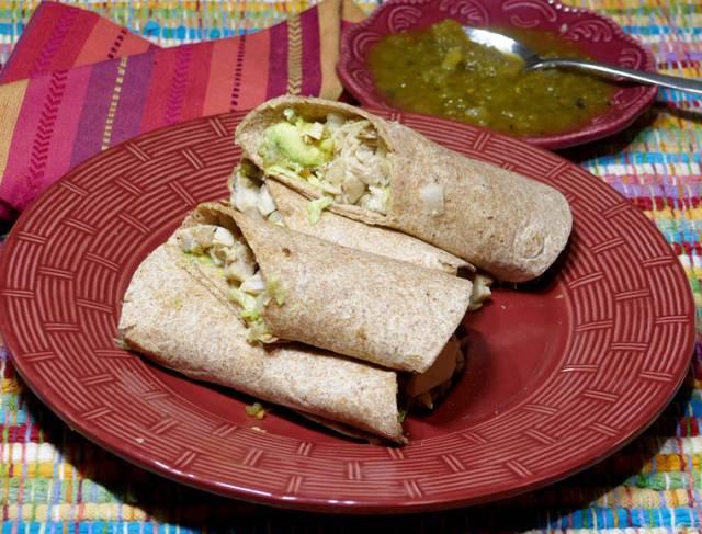 Baja chicken wrap makes for quick, easy dinner