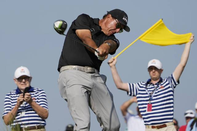 Phil being Phil: Mickelson shares lead in PGA Championship