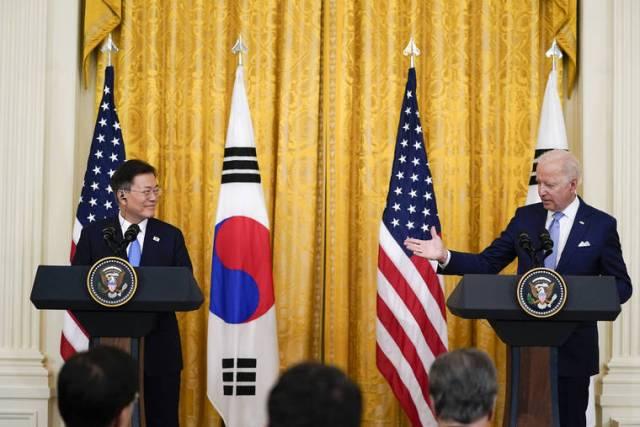 Biden, South Korea's Moon 'deeply concerned' about North Korea