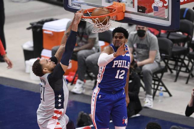 NBA playoff capsules: Wizards avoid being swept by 76ers, Embiid injured