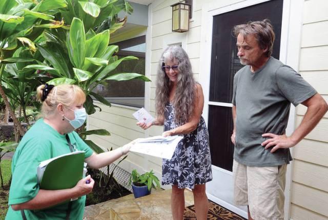 Spreading the word: Vaccination outreach effort hits Kona neighborhoods