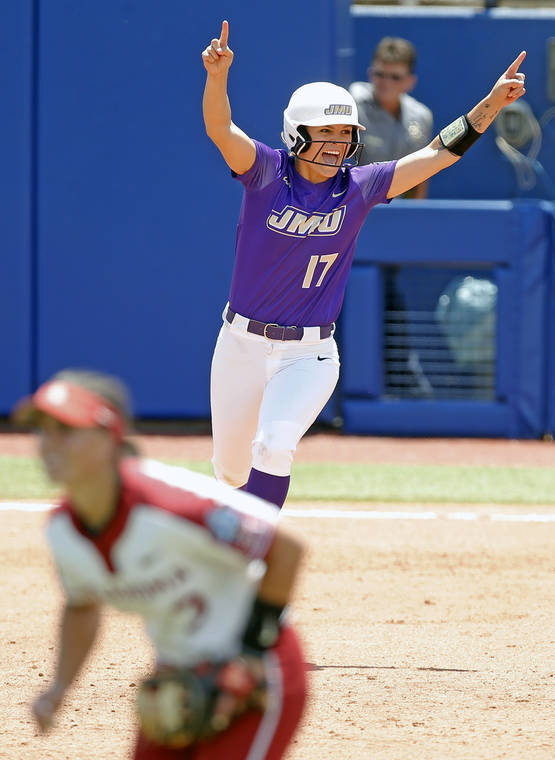 James Madison stuns No. 1 seed Oklahoma in WCWS opener