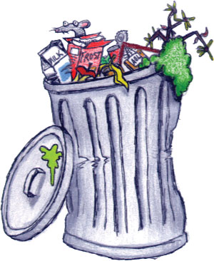 Image result for trash can cartoon image