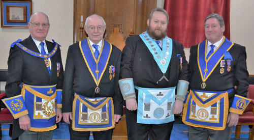 Pictured left to right, are: David Grainger, Roy Domville, Michael Cole and Neil McGill.