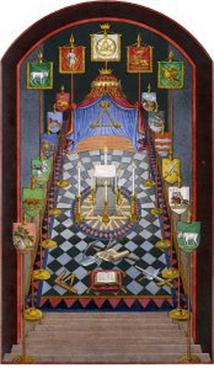 A Royal Arch tracing board.