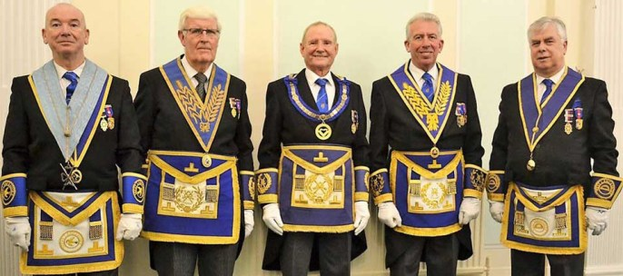 Pictured from left to right, are:  Phil Pattullo, John Wilcock, David Walmsley, Mark Matthews and Dave Johnson.