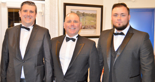 The brethren who gave the commendable explanations of the working tools, from left to right, are: Mark Laverty, Malcolm Lowe and Aaron Mayers.