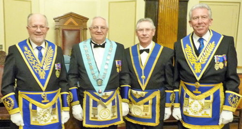 Pictured from left to right, are: Christopher Hamilton, Eric Palfreyman, Pete McCarthy and Mark Matthews.