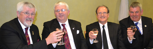 Pictured from left to right at the festive board, are: David Barr, Bill Williamson, Alan Gardner and John Eccles.