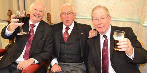 Pictured from left to right, enjoying the evening are: Raymond Griffiths, Keith Lamb and Donald Polson.
