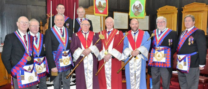 Pictured from left to right, front row are: Peter Quirk, Keith Kemp, Sam Robinson, Allan Finney, Raymond Griffiths, Carl Horrax, John Robson and Neil McGill. Back row: Steve McClintock and Dennis Laird.