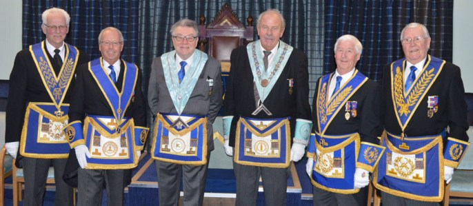 Pictured left to right, are: Raymond Firth, Peter Pemberton, Bill McGhee, Mel Cross, Jim Wilson and Jim Woods