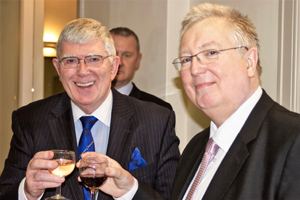 With John Murphy at the Garston Group dinner.