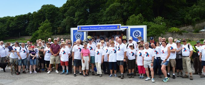 Over 100 Freemasons, friends and family assembled at Heysham Village to take part.