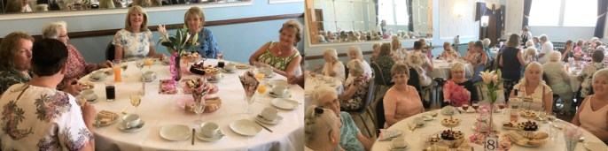 The ladies enjoy their 'afternoon tea'.