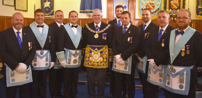 A marvellous anniversary meeting at Hindpool with the local 'light blue' Cavendish Club members.