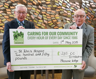 Hospice receives support from Torrisholme Lodge