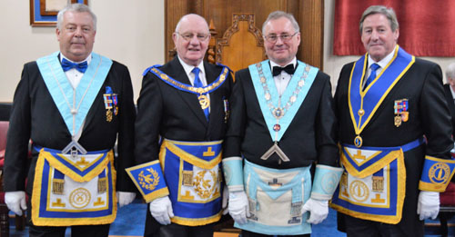 Pictured from left to right, are: George Fox, David Grainger, Paul Taylor and Neil McGill.