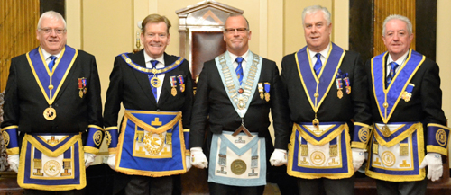 Pictured from left to right, are:  David Dutton, Kevin Poynton, John McKenzie, Dave Johnson and Stephen Clarke.