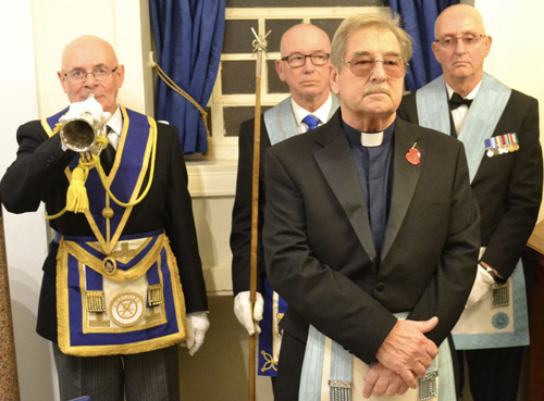 Pictured from left to right, are: Adrian Ogle, Phil Pattullo, Rev Fred Bemand and Steve Linton.