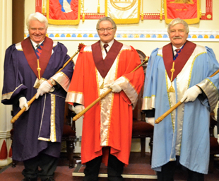Keith installed at Ceres Chapter