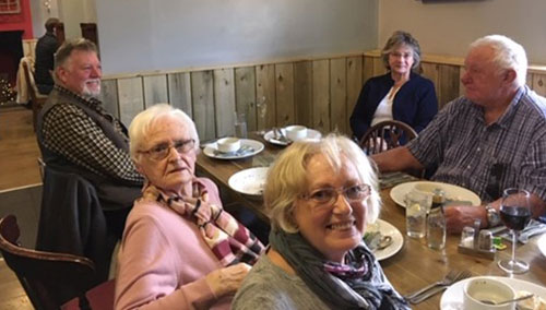 Pictured from left to right, are: Stuart Mason, Joyce Turner, Elaine Dean, Linda Mason and Dennis Read.