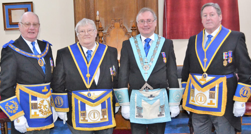 Pictured from left to right, are: David Grainger, Colin Martin, Paul Taylor and Neil McGill.