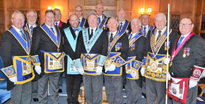 Pictured from left to right, are; Keith Kemp, Phil Gardner, Neil McGill, John Pitches, Carl Horrax, Barrie Bray, Anthony Dickinson, Graham Dowling, Peter Mason, Les Newlands, Jim Wilson, Reg Wilkinson, Norman Thompson and Jim Stewart.