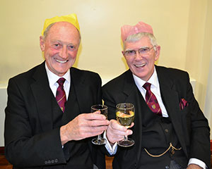 Barry Jameson and I, getting into the festive spirit!