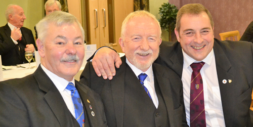 Brothers in arms. Pictured from left to right, are: John Pitches, Bernard Snape and Scott Devine